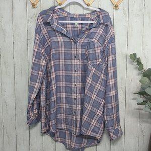 Susina Blue Flannel Shirt